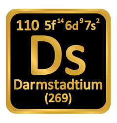 periodic table element darmstadtium icon vector image