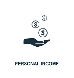 personal income icon line style icon design from vector image