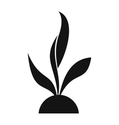 Plant seedling simple icon vector image