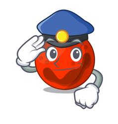 Police mars planet character cartoon vector