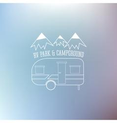 RV and caravan park template On nice blue vector