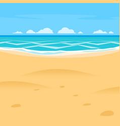 sand beach simple cartoon style background sea vector image