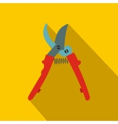 Secateurs plane icon with shadow vector