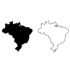 simple only sharp corners map of brazil drawing vector image