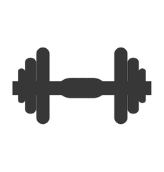 single dumbell icon vector image