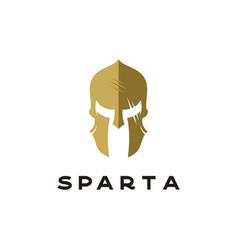 Spartan sparta logo helmet logo design vector