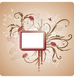 square frame with foliage vector image