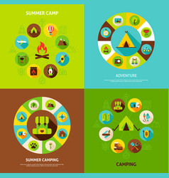 summer camping concepts vector image