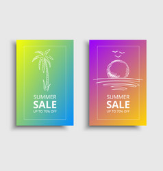 summer-sale-brochure vector image