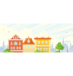 Summer town banner vector image