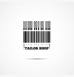 tailor shop logo vector image