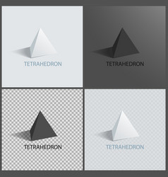 Tetrahedrons figures prisms collection vector