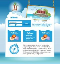 Travel web site vector