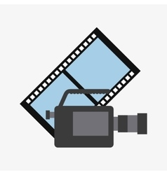Video marketing set flat icons vector