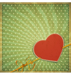 vintage valentines hearts background vector image