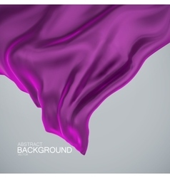 Violet silk fabric vector