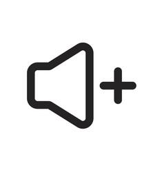 Volume up icon vector