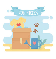 volunteering help charity clothes ecology animals vector image