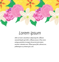 Wedding card or invitation with abstract floral vector
