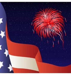 4th of july american flag vector image