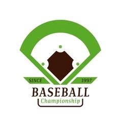 Baseball tournament professional badge vector image