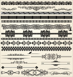Calligraphic and decor design elements vector image vector image