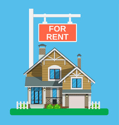 home for rent icon real estate concept vector image vector image