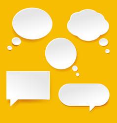 speech bubble set vector image