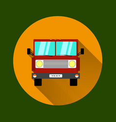 truck car on road in flat style trucking and vector image vector image