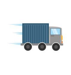 truck delivery transport design vector image