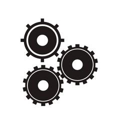 black gear wheel work vector image vector image