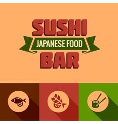 flat template of sushi bar menu vector image