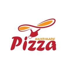 handmade pizza vector image vector image