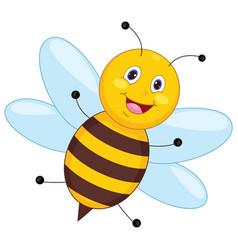 of cartoon bee vector image
