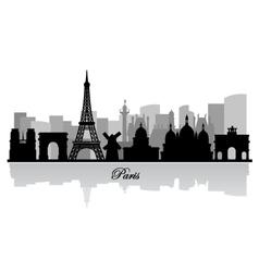 paris skyline silhouette vector image