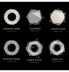 Unusual abstract geometric shapes logo set vector image vector image