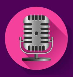 vintage metal studio microphone icon vector image