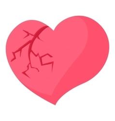 Broken heart icon cartoon style vector image