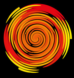color spiral on a black background abstraction vector image vector image