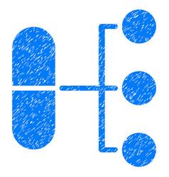 Pharmacy distribution grunge icon vector