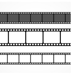 film strip collection in different sizes vector image