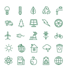 Icons Ecology and Environment vector image vector image