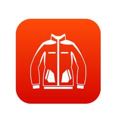 men winter jacket icon digital red vector image