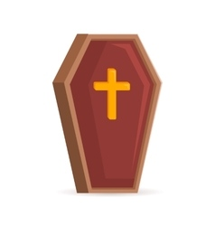 Old fashoined coffin vector image vector image