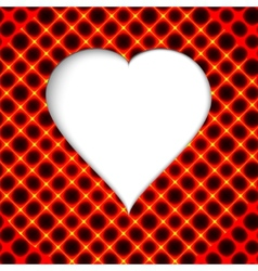Valentines day Modern abstract background with red vector image