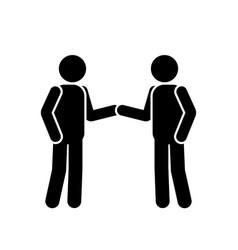 1334 stick figure handshake vector