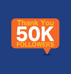 50k followers vector