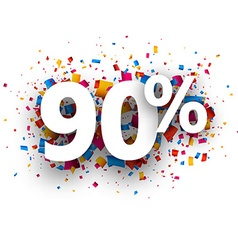 90 sale sign vector image