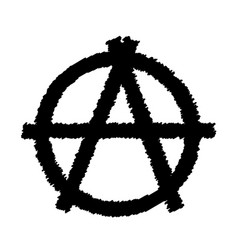 A sign of anarchy vector
