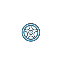 alloy wheel icon design transportation icon design vector image